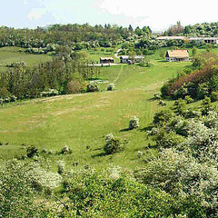 Dunaalmás: Rarity. Equestrian farm in secluded hilly location nearby Tata.